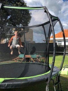 Best Trampolines - kid jumping on trampoline