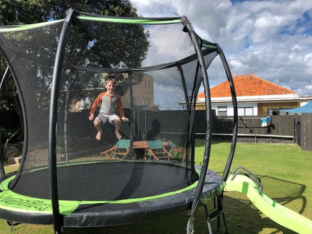 Best Trampolines - kid jumping on trampoline
