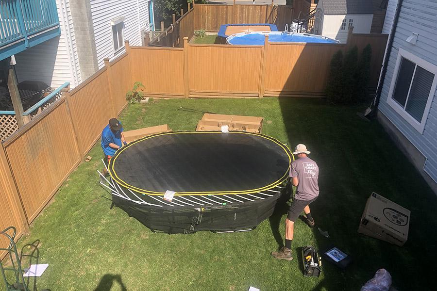 Springfree Trampolines Install