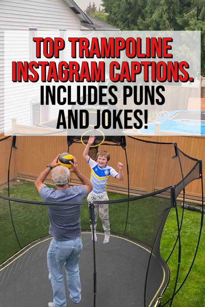 Trampoline Captions for Instagram.