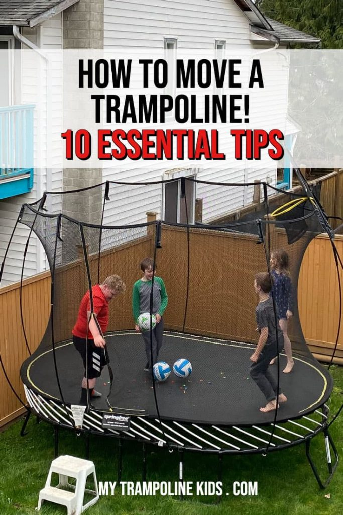 Tips for moving a trampoline.