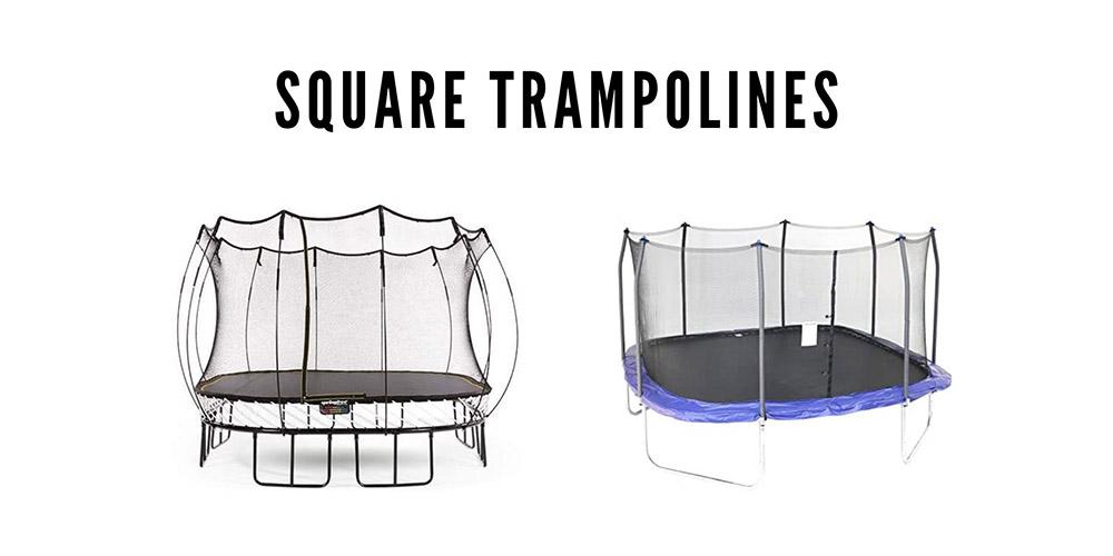 Square trampoline technical info.